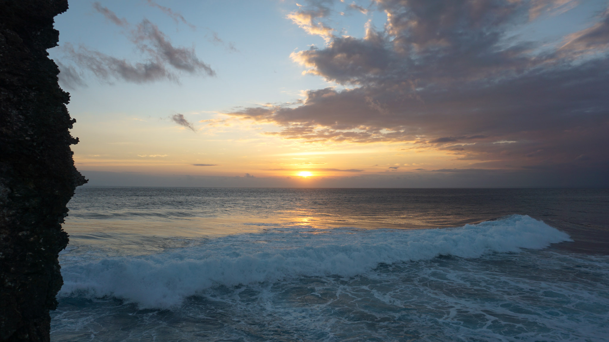 Sonnenuntergang auf Nusa Ceningan, Bali